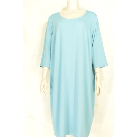 Eileen Fisher Dresses & Skirts - Eileen Fisher Woman dress 2X loose tunic style 3/4